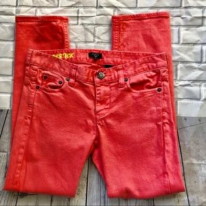 J. Crew Size 26 Matchstick Skinny Coral Crop Jeans